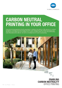 Carbon Neutral Printing whitepaper