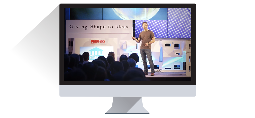 Speech of a Konica Minolta Employee at the pioneers festival