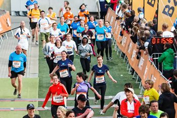 B2Run Hannover finish line running event